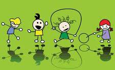 Cartoon of kids