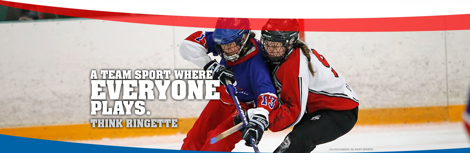 Main image of 2 females playing ringette